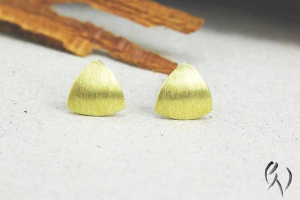 Minidreieck strichmatt, Gold 585/-