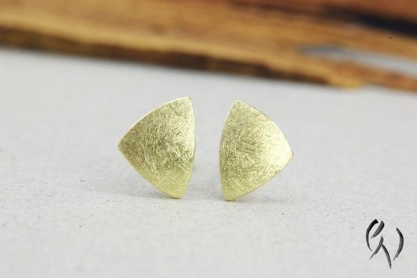 Ohrstecker Zena, Gold 585/-, mattgekratzt