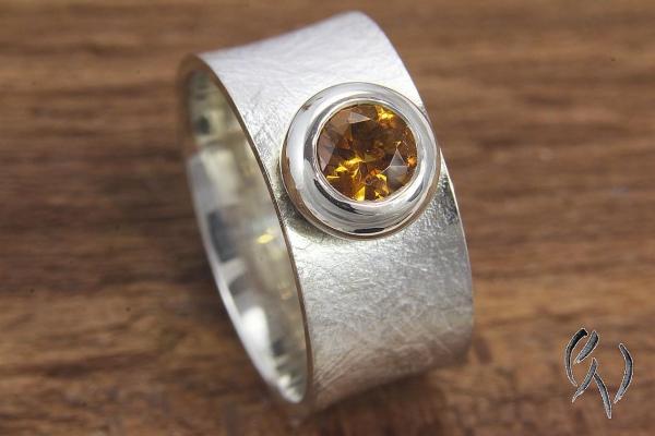 Ring Raeka, Silber 925/-  mit Palmeracitrin